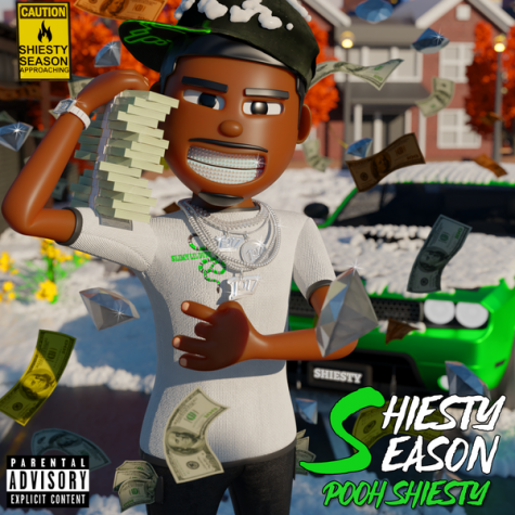 "The cover art for Pooh Shiesty's debut album ""Shiesty Season."" The cover art, done through virtual 3D modeling, is the perfect thing you want to go with an album, a creative cover. While the album didn't live up to the standards of the art, Shiesty showed some young potential with multiple polished tracks on the tape."