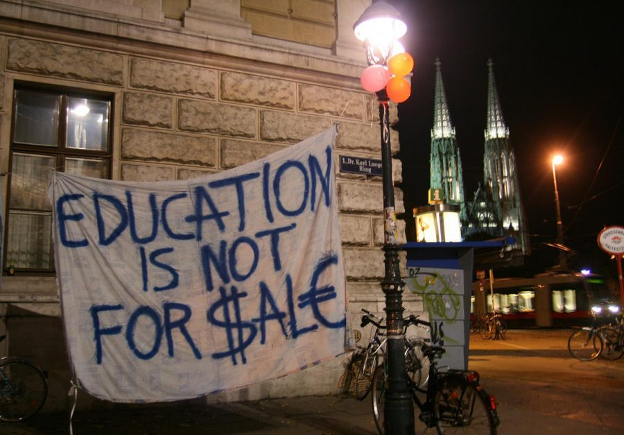 A student protest over tuition fees at the University of Vienna in 2009 still holds the same messages today as prices continue to increase.