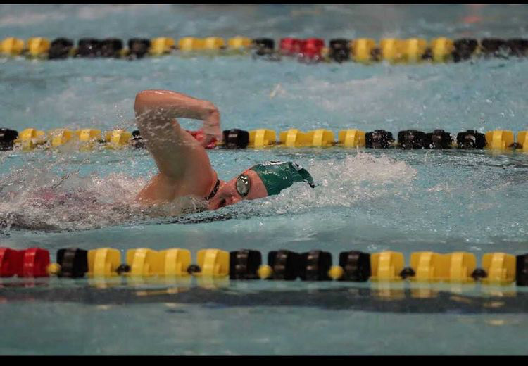 Lauren Newton places 33rd in the state after the Metro Conference meet. The following summer she was diagnosed with Thoracic Outlet Syndrome and dashed her hopes of swimming state her junior season.