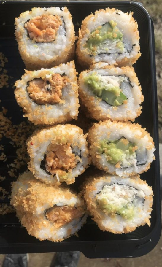 Foxy+Sushi%E2%80%99s+Crazy+Salmon+and+Crunchy+Hollywood+cooked+sushi+rolls+may+come+from+a+drive-thru%2C+but+their+flavor+still+holds+up.+Both+are+covered+in+crispy+panko%2C+incorporate+delicious+seafood+and+provide+satisfied+smiles+for+under+%248.00+each.