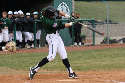 """Senior Corbin Hawkins had a big game against Skutt; he went 2-3 on the day with a stolen base and two runs scored. """"I've just been trying to have competitive at bats,"""" Hawkins said. """"Winning those 1-2, 2-2 and 3-2 counts, to apply pressure on the pitcher and defense."""""""