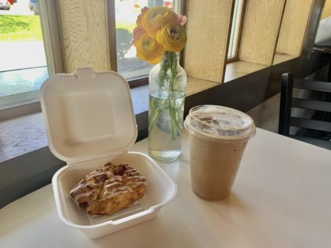The iced tuxedo latte and the strawberry scone from Zen Coffee Company are delicious parts of the company's menu and fit right in with the aesthetic of their store.