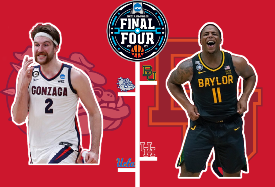 Gonzaga%2C+led+by+Drew+Timme%2C+and+Baylor%2C+helped+by+Mark+Vital%2C+lead+their+respective+teams+into+battle+to+try+and+earn+each+school%27s+first+championship+in+program+history.+Baylor+came+off+an+impressive+win+over+Houston%2C+whereas+Gonzaga+came+off+a+thriller+against+UCLA.%0APhoto+by+Logan+Moseley.%0A