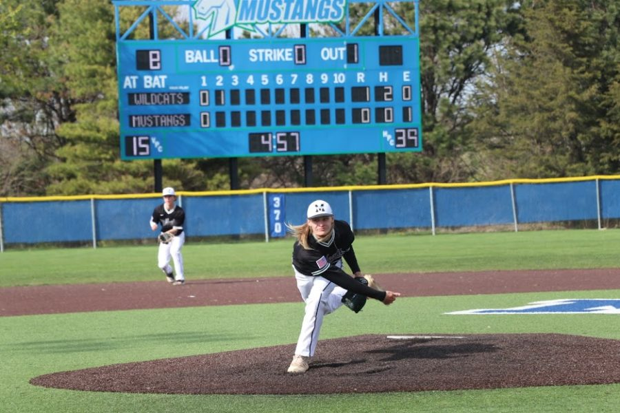 Junior Jaxson Cahoy threw six scoreless innings for the Wildcats. His 10 strikeouts led Millard West to victory.