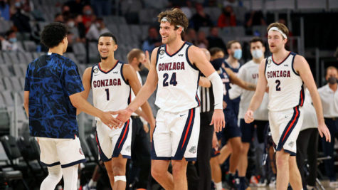 Gonzaga's 30-0 record is held up by the incredible play of their big three. Freshman guard Jalen Suggs, Senior forward Corey Kispert, and Sophomore center Drew Timme all combine for 52 points a game, well over half of Gonzaga's NCAA leading 92.1 per game. The top ranked team is just two wins away from becoming the first undefeated champion in over 40 years.
