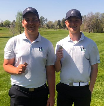 "Senior Blake Skoumal, and Junior Adam Hahn were both fortunate enough to place high in the meet. Skoumal secured fourth place with a score of 71, and Hahn was not far behind in tenth, with a score of 75. ""Overall I left about four shots out there,"" senior Blake Skoumal said. ""It makes me look forward to the postseason."""