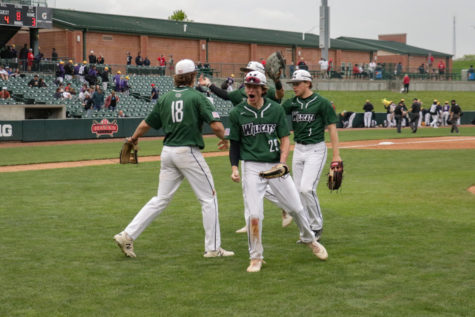Senior Cade Owens fired up after their second round matchup against Millard South. They won this game 4-3 off of an RBI single by junior Drew Borner in the top of the seventh.
