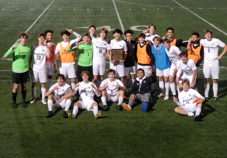 "The Wildcats pose for a picture and celebrate their District Championship after the game. This advances the team to state and they enter in an underdog role but still have an opportunity to take home the title. ""At State, anything can happen. Sometimes you go as the underdog and end up winning big,"" Aguirre said. ""We have to go one step at a time with faith and confidence and try our best, if you do that there will be nothing to regret."""