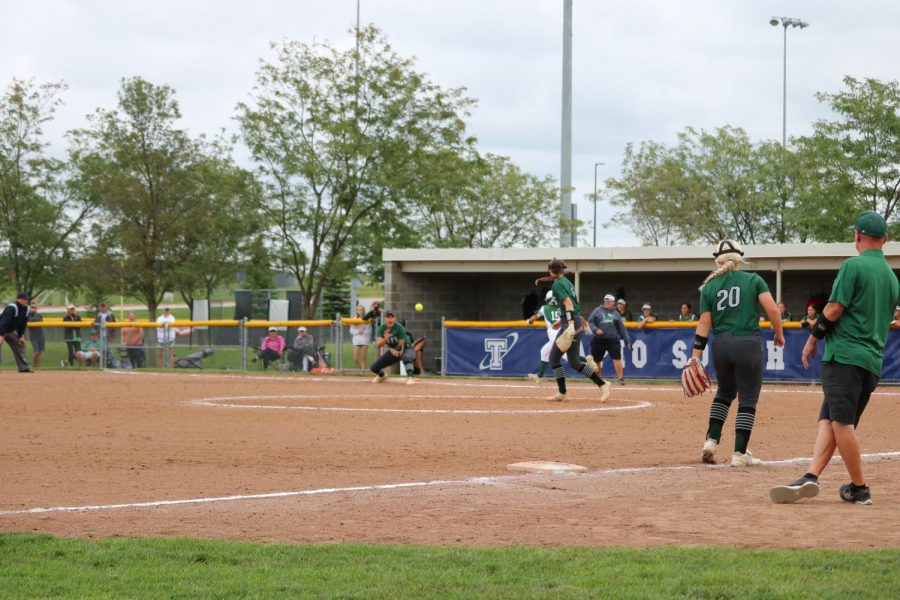 Senior+Bella+Bacon+is+ready+to+get+the+2nd+out+in+the+first+inning+for+Millard+West+in+their+first+game+in+the+Papillion+La-Vista+South+Tournament.+These+girls+go+on+to+place+third+in+this+tournament+leaving+them+with+a+8-4+record+so+far+in+this+season.+%E2%80%9CI+felt+ready+to+get+the+job+done%2C%E2%80%9D+Bacon+said.+%E2%80%9CWe+had+a+game+plan+to+attack+when+we+needed+to.