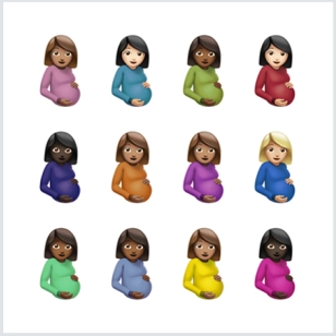 """This is the album cover for """"Certified Lover Boy,"""" it shows the twelve pregnant lady emojis with the white background. It is a very plain cover and it does not show a lot of effort Drake put in it. That is not true for the album though, as he put more than enough effort in making this masterpiece."""
