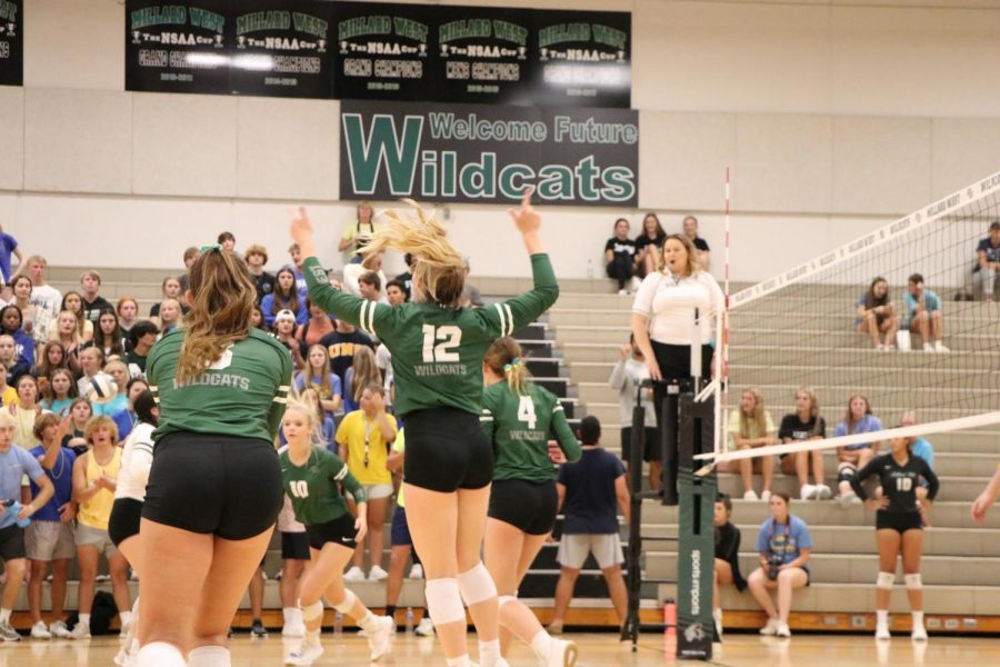 """Millard West fought hard to keep their lead throughout the match. Although this got more tough as the game went on, they still managed to smoke Omaha Northwest in the third set. """"Into the last set of the game my mentality was just not to make any mistakes and play as a team,"""" sophomore Lauren Jones said. """"I think that our biggest challenge moving forward will be playing more of the highly competitive teams. We haven't had too much competition starting this season off, but I know once we start playing competitive teams we will have to dial in and play our game and not make silly mistakes."""""""