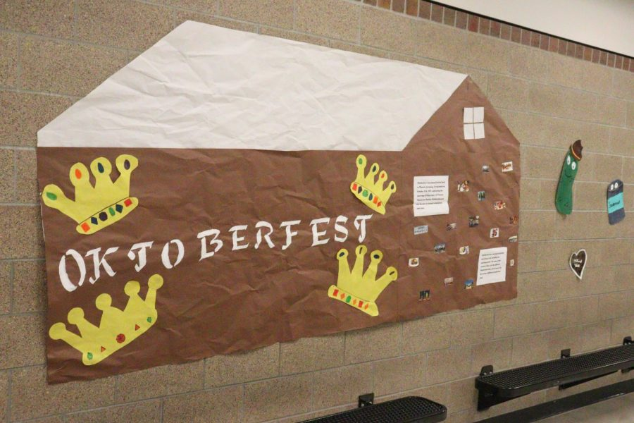 """The Oktoberfest display in the hallway set up by German club members shows off a unique holiday celebrated in Germany. The display not only gave a visual representation of the holiday but also stated facts to give more information. """"We want to spark interest in our German programs and expand students' knowledge of the world outside our country,"""" German teacher Andrea Turner said. """"And we want to share some fun and create community with the rest of the school. Many students at West have family connections to Germany."""""""