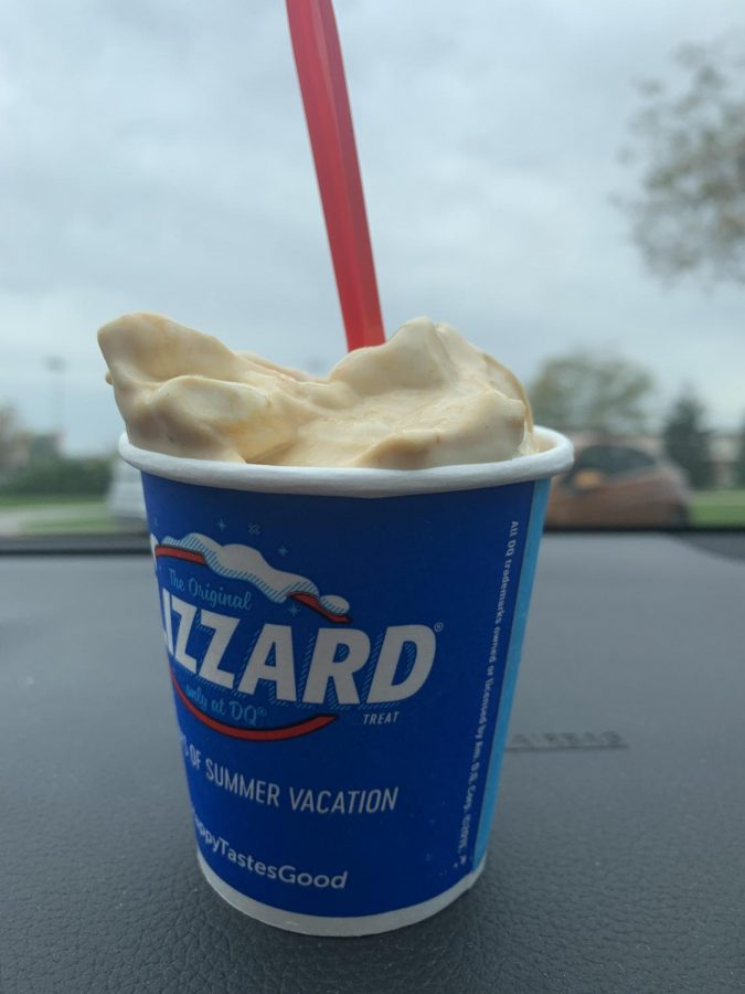 Although it doesnt look like much, the Pumpkin Spice limited edition blizzard from Dairy Queen exceeded my expectations.